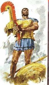 Ettore con le armi di Achille